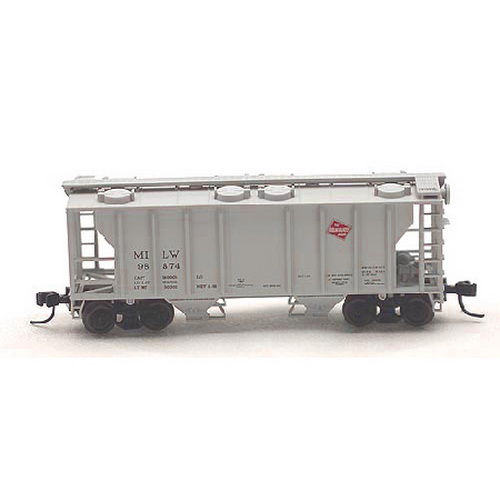 Atlas 31843 N Scale Milwaukee Road PS2 Covered Hopper #3